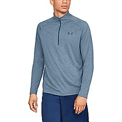 Under Armour - Blue 'Tech  2.01' 1/2 Zip Top