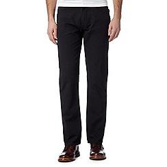 Ben Sherman - Black straight leg cord trousers
