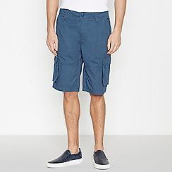 Jacamo - Blue Cotton Cargo Shorts