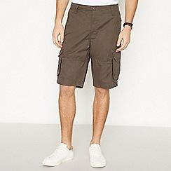 Jacamo - Dark Grey Cotton Cargo Shorts