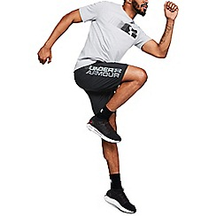 Under Armour - Black 'Woven' Graphic Wordmark Shorts
