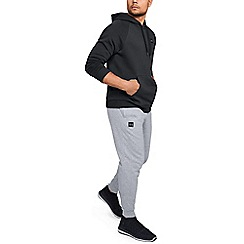 Under Armour - Light Grey Cotton Blend 'Rival' Fleece Joggers