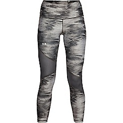 Under Armour - Grey 'HeatGear®' Armour Printed Ankle Cropped Leggings