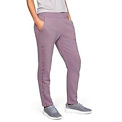 Under Armour - Purple Cotton Blend 'Rival' Fleece Joggers