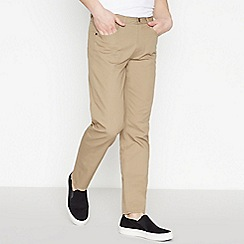 Ben Sherman - Natural Corduroy 'Bedford' Straight Fit Trousers