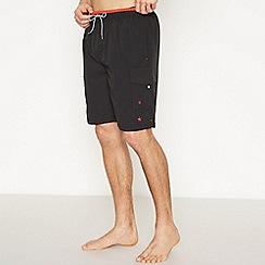 Jacamo - Black Cargo Swim Shorts