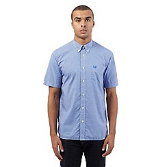Fred Perry - Blue gingham checked print shirt