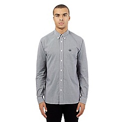 Fred Perry - Black gingham checked print shirt