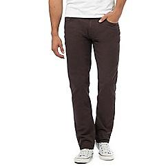 Ben Sherman - Grey regular fit corduroy trousers