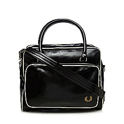 Fred Perry - Black rectangular holdall