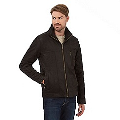 Barneys - Dark brown leather Harrington jacket