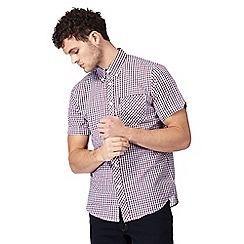 Ben Sherman - Blue check print button down shirt