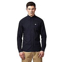 Fred Perry - Navy 'Oxford' button-down shirt