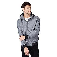Ben Sherman - Big and tall grey 'harrington' hooded jacket