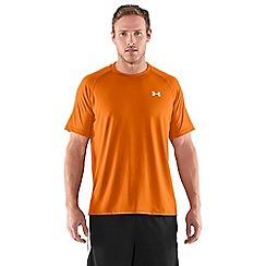 Under Armour - Orange logo print t-shirt
