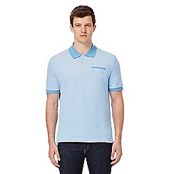 Ben Sherman - Big and tall light blue tonic polo shirt