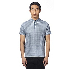 Ben Sherman - Big and tall light blue dogtooth polo shirt