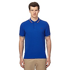 Fred Perry - Blue tipped logo applique polo shirt