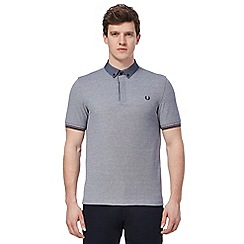 Fred Perry - Blue embroidered logo polo shirt