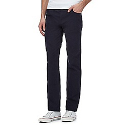 Ben Sherman - Navy corduroy straight leg trousers