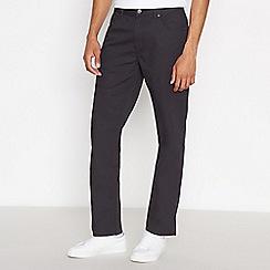 Ben Sherman - Black corduroy straight leg trousers