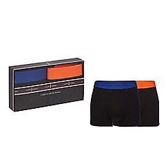 J by Jasper Conran - Pack of two black hipster trunks in a gift box