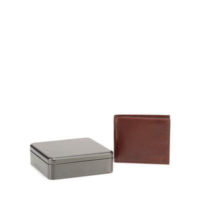 rjrjohn-rocha---brown-leather-fold-out-zip-wallet-in-a-gift-box by rjrjohn-rocha