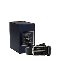 Hammond & Co. by Patrick Grant - Black leather belt in box