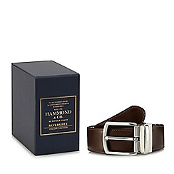 Hammond & Co. by Patrick Grant - Black and brown reversible leather belt in a gift box
