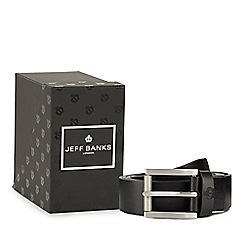 Jeff Banks - Black leather belt in a box