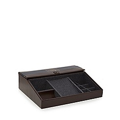 Hammond & Co. by Patrick Grant - Brown leather tech valet tray