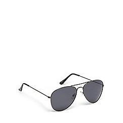 Mantaray - Grey metal pilot sunglasses