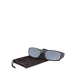 Mantaray - Black plastic wrap sunglasses