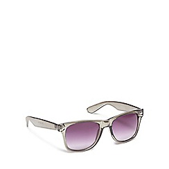The Collection - Silver metal rectangular sunglasses