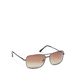 Mantaray - Black metal square sunglasses