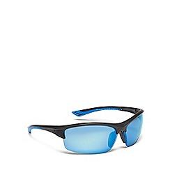 Mantaray - Black plastic semi-rimless sunglasses