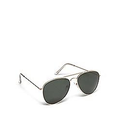 Mantaray - Gold metal pilot sunglasses
