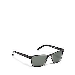 Red Herring - Black plastic square sunglasses