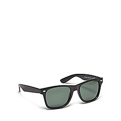 Red Herring - Black plastic polarised square sunglasses