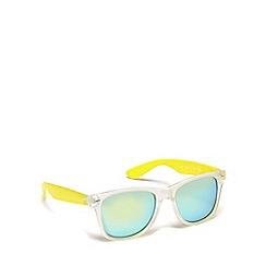 Red Herring - Yellow plastic square sunglasses