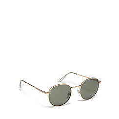 Red Herring - Gold metal round sunglasses
