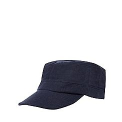 RJR.John Rocha - Navy textured linen blend train driver hat