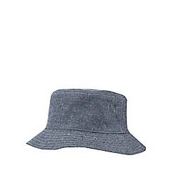 RJR.John Rocha - Light grey reversible linen blend bucket hat
