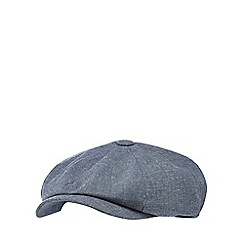RJR.John Rocha - Light grey textured linen blend baker boy hat