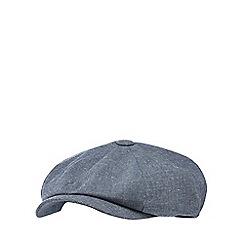 RJR.John Rocha - Light grey textured linen blend baker boy hat
