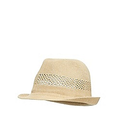 J by Jasper Conran - Natural vented trilby