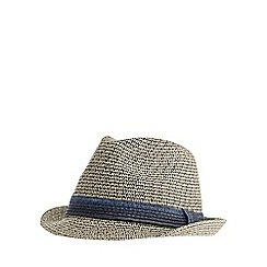 J by Jasper Conran - Cream and navy trilby hat