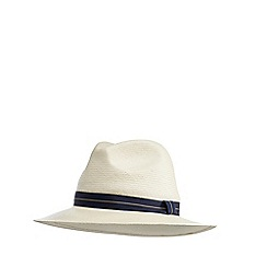 Hammond & Co. by Patrick Grant - Natural 'Toyo' fedora hat