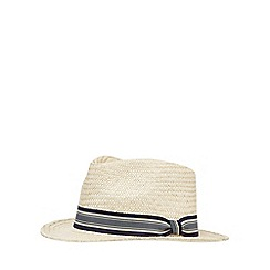 Hammond & Co. by Patrick Grant - Natural straw fedora hat