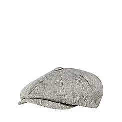 Hammond & Co. by Patrick Grant - Light grey baker boy hat